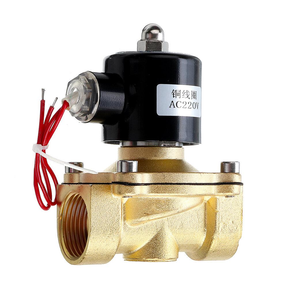 1/2 3/4 1 vanne pneumatique de vanne électromagnétique électrique de pouce 220V pour les vannes d'air en laiton de valve de gaz d'air
