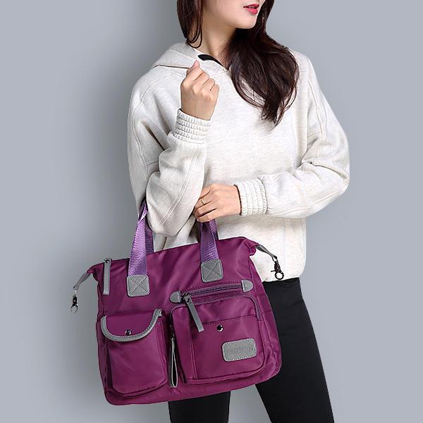9a967cf14eb79 النساء Nylon ماء سعة كبيرة متعددة جيب متعددة الوظائف حقيبة كروسبوبي حقيبة