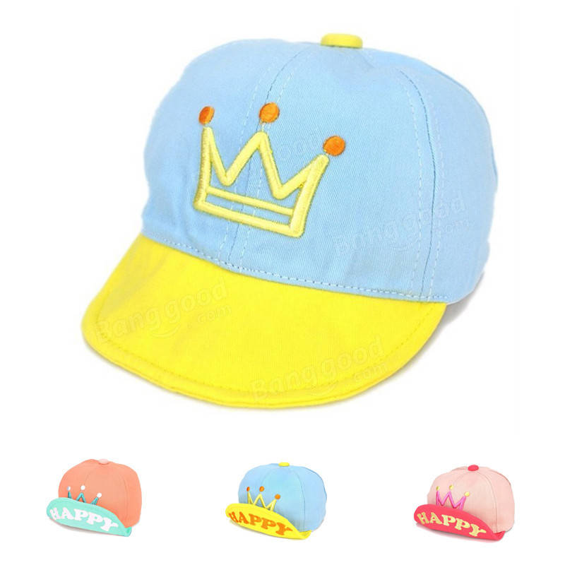 8c845b41ae5 children baby kids letter crown printed baseball cap infant boys girls  cotton blend snapback sports cap hat at Banggood sold out