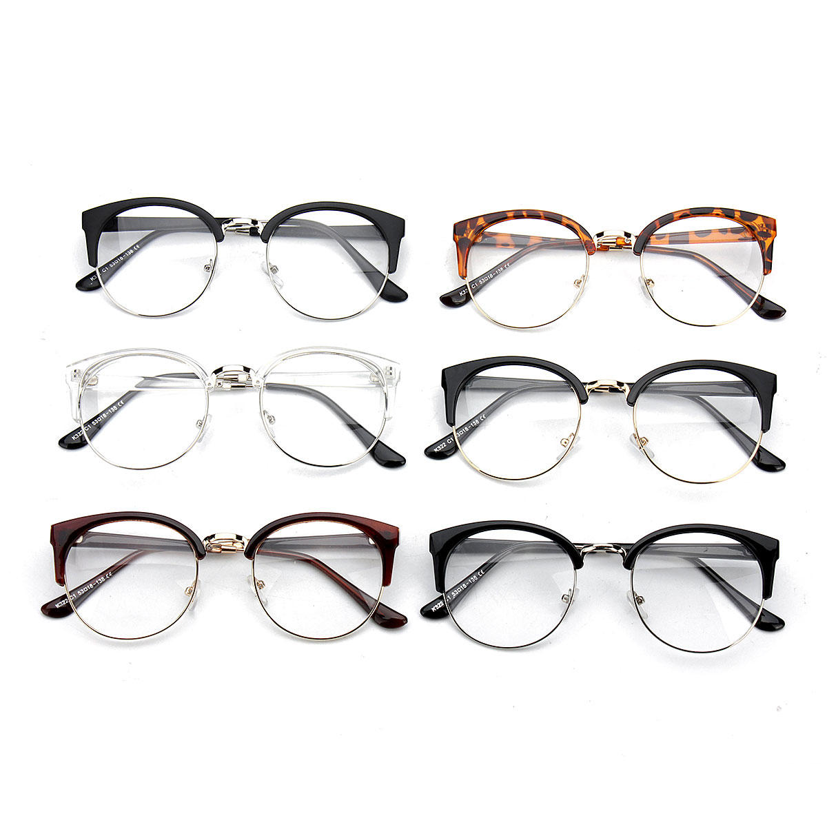 35fb2d35aff Women Vintage Nerd Glasses Clear Lens Eyewear Men Retro Round Metal Frame  Glasses COD