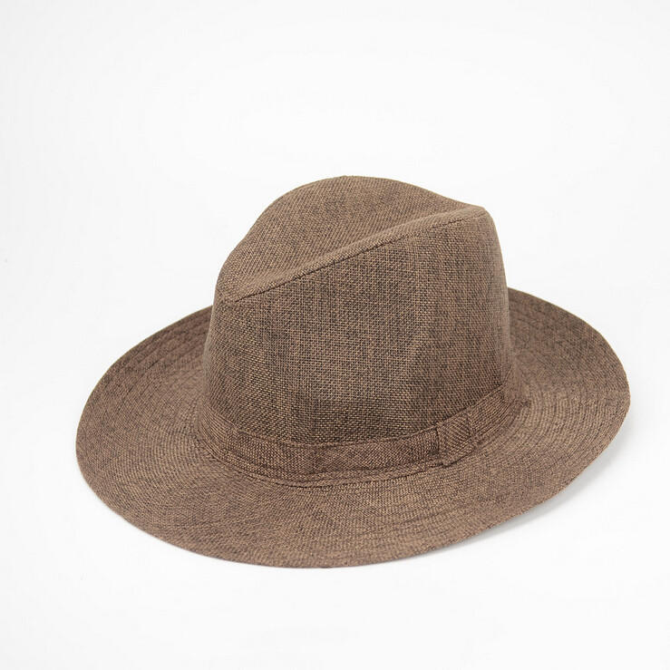 Unisex Men Women Straw Floppy Fedora Hat Derby Beach Trilby Panama Hat
