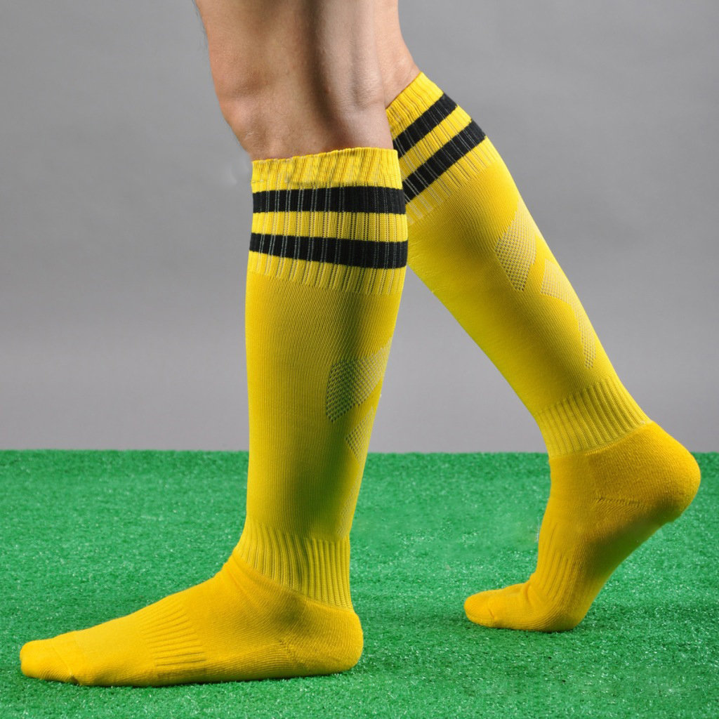 cd5a635e7 Mens Knee High Stocking Sport Football Striped Long Socks Countries Style -  Navy COD