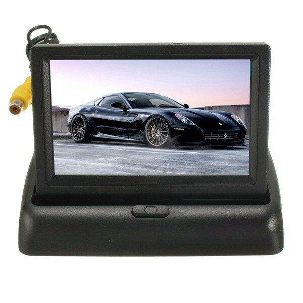 Car Wireless IR Rear View Backup Reversing Camera Kit Foldable LCD 4.3 Inch  Monitor COD 5c7d8dc87