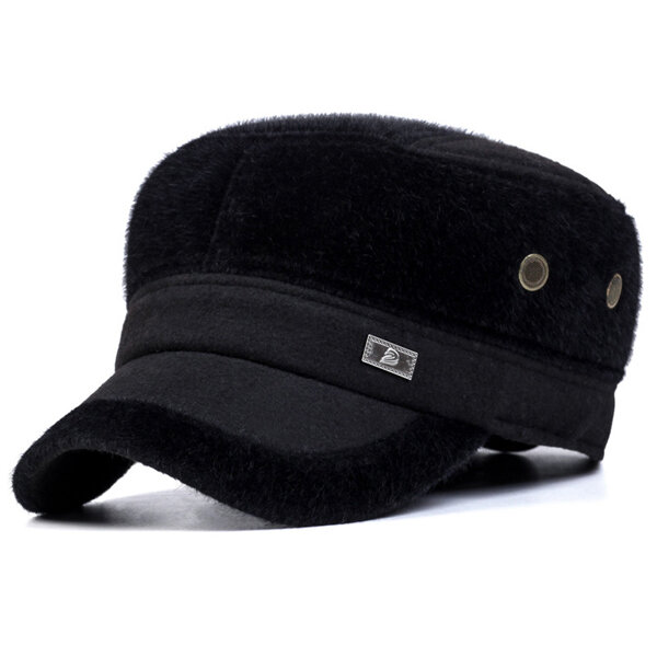 9009604ac9ebb Unisex Imitation Mink Fur Earflap Ear Muffs Baseball Cap Adjustable Faux Fur  Outdoor Military Hat