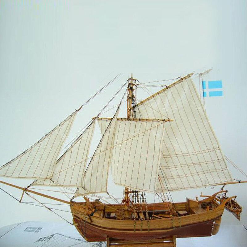 Edificio de modelo de nave de ensamblaje de madera DIY pesca barco Láser Kits de decoración de juguete de regalo