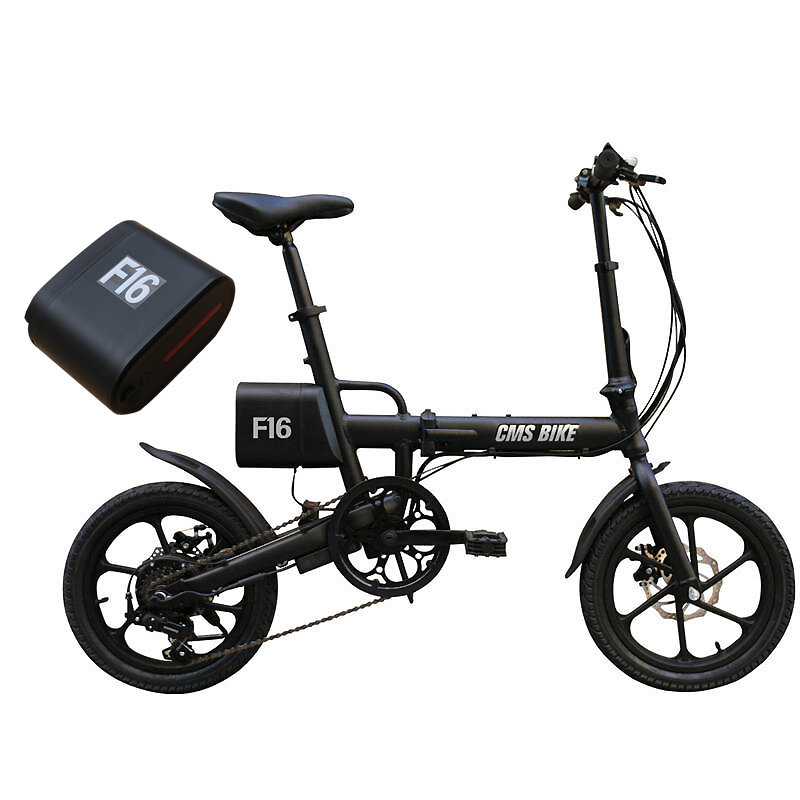 CMS-F16 Extra Battery Set 36V 7.8AH 250W Black 16 Inches Folding Electric Bicycle