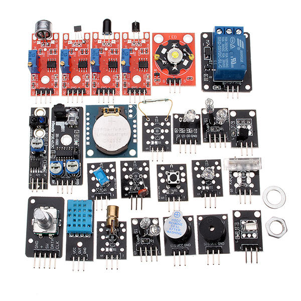 Arduinoプラスチックバッグパッケージ用24 In 1センサーモジュール基板キット