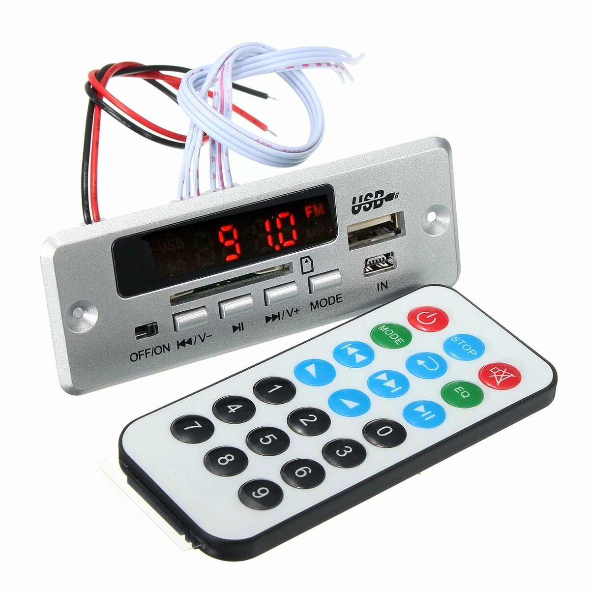 Dc 12v 5v Mp3 Decode Board Led Usb Aux Fm Bluetooth Radio Amplifier Wiring Diagram With Remote