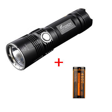 Fitorch P26R XHP70.2 3600Lumens FCD Rechargeable Portable LED Flashlight +Fitorch 26650 Battery
