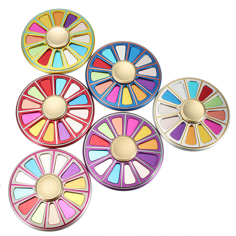 Aviation Aluminium Alloy Kleurrijke Circular Color Palette Finger Spinner