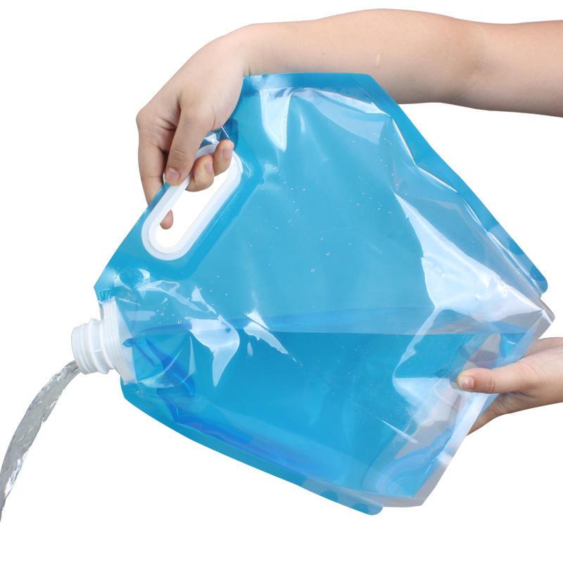 옥외 휴대용 Foldable 접히는 접히는 식용 수위 부대 옥외 야영 하이킹 피크닉 바베큐를위한 차 물 캐리어