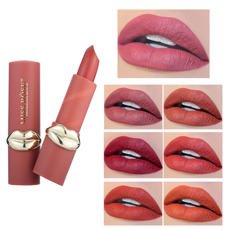 MISS ROSE 12 Color Matte Velvet Lip Stick Long-Lasting Lip Makeup