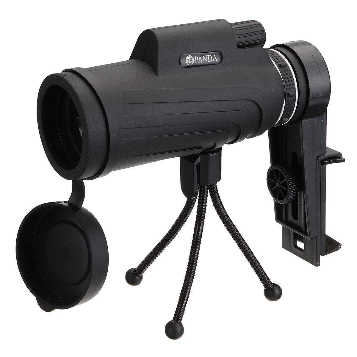 Panda 40x60 étanche télescope monoculaire pour Smartphone avec support de téléphone clip + trépied