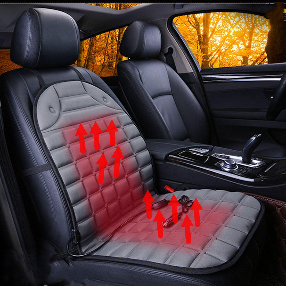 Car Electric Heated Seat Cushion Round Ball Heater Cover DC12V For Warmer Winter