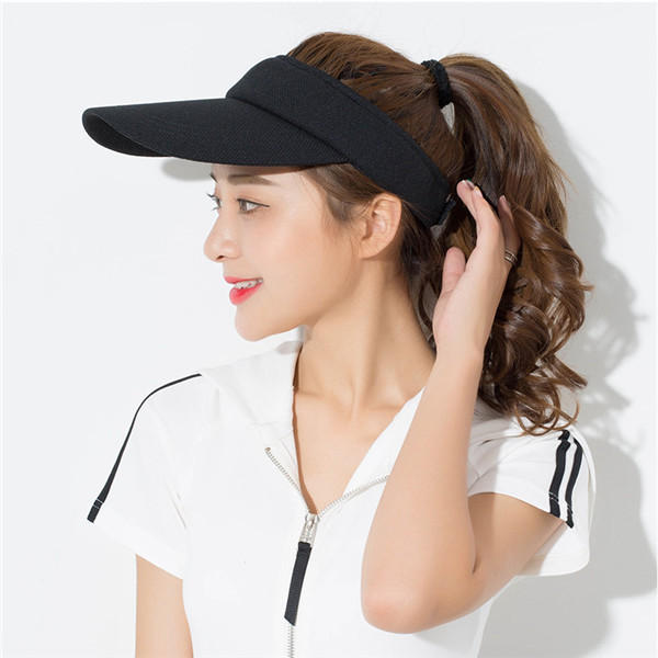f87722f6 Unisex Men Super Absorbent Breathable Visor Hat Best for Tennis Golf  Running - Black COD