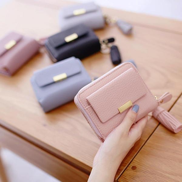 Женщины конфеты цвет прочистки короткие бумажники девушки молния кошелек держатель карты мешки для монет