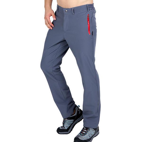 ผู้ชายฤดูหนาวขนแกะกางเกงว่ายน้ำอุ่นกลางแจ้งปีนเขา แคมป์ปิ้ง Hiking Soft Shell Trousers