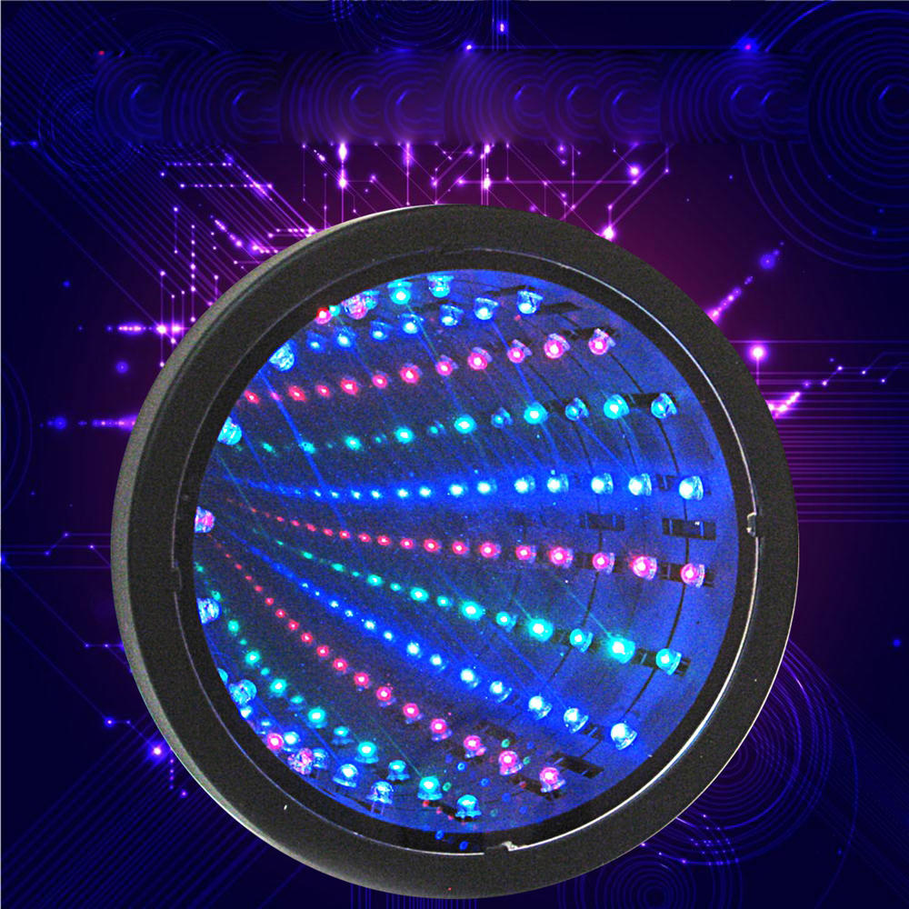 Sensory Infinity Mirror Light Led Tunnel Wall Relaxing Calm Stage Lamp Cod
