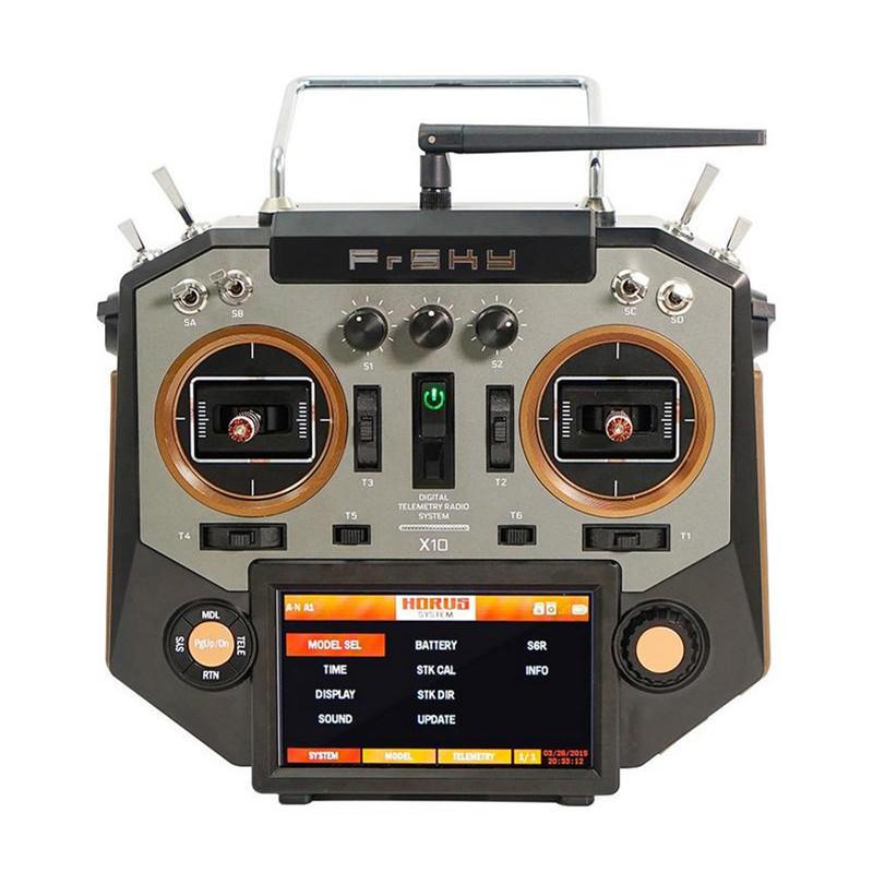 FrSky Horus X10 16 Canaux Transmetteur de Drone RC Mode 2 d'Accélérateur à Gauche Couleur Argent & Ambre
