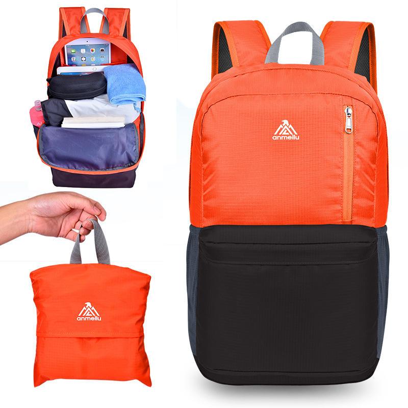 3184ec2fd655 ANMEILU 20L Foldable Backpack Ultralight Outdoor Camping Travel Waterproof  Folding School Bag Men Women COD