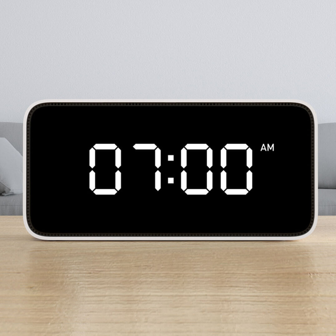 Smart Alarm Clock >> Xiaomi Xiaoai Smart Voice App Control Weather Broadcast Alarm Clock