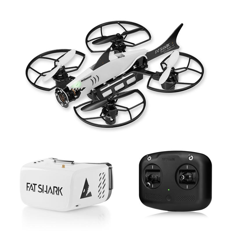 Fat Shark 101 Training System Micro FPV RC Drone Quadcopter With 5.8G 32CH Recon V1 FPV Goggles