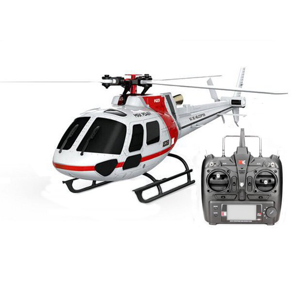XK K123 6CH AS350 de Escala RC Helicóptero RTF Modo 2 sin Escobillas