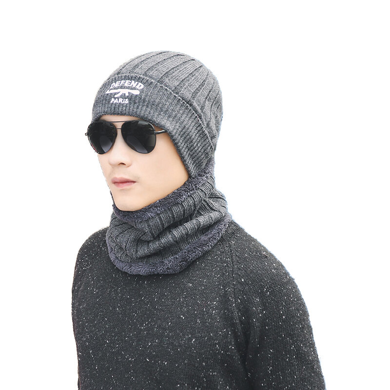 759cc1e7fd8 Knitted Neck Warmer Winter Hat Mask Cap Balaclava Scarf Wool For Men Women  COD