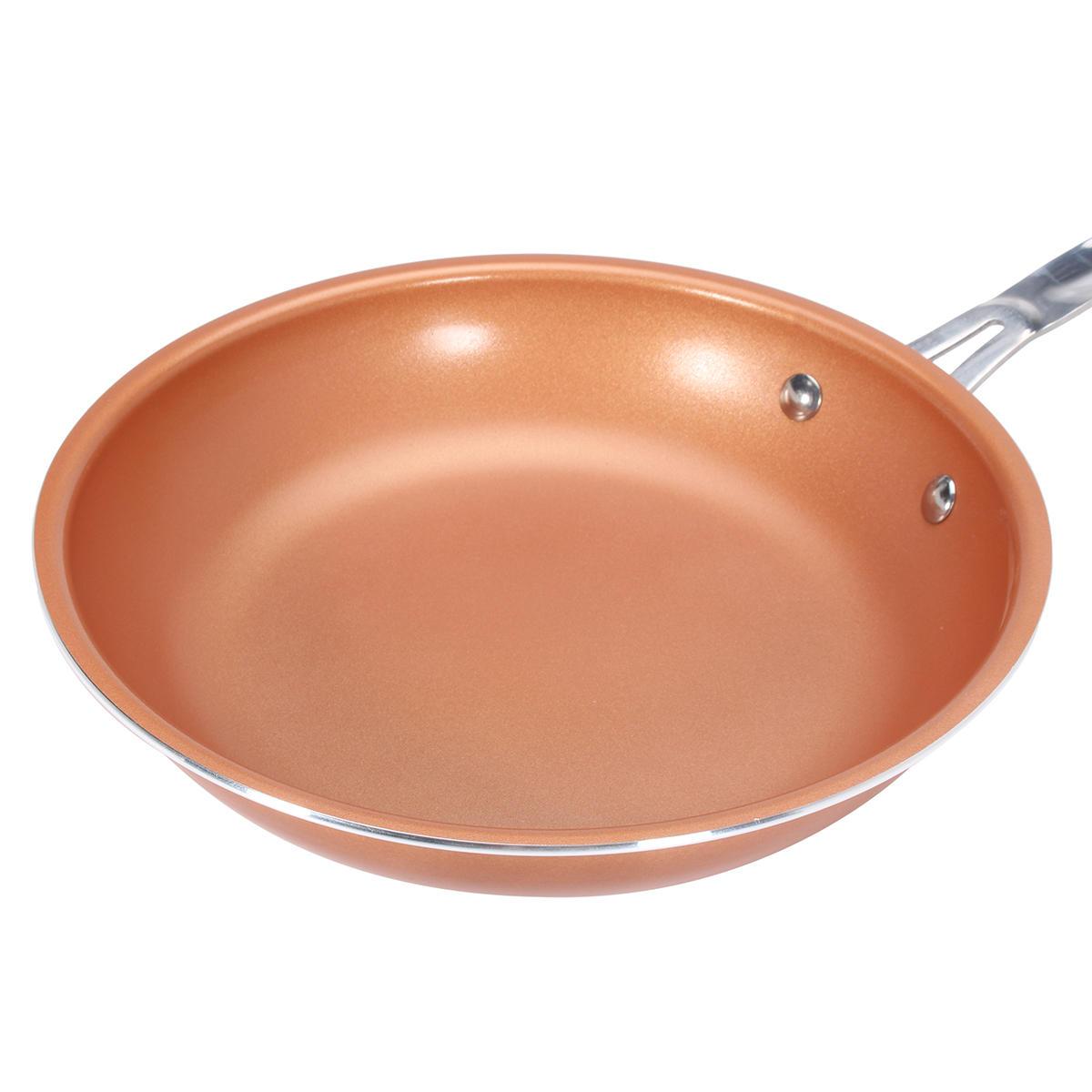 9inch Алюминий Нержавеющая сталь Круглый Не Палка Медь Кухонная посуда для жарки
