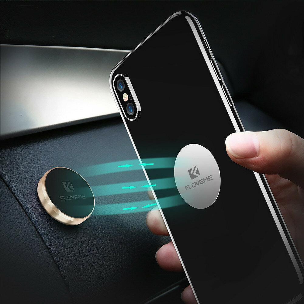FLOVEME Support magnétique de téléphone de voiture Stand autocollant Multifonctionnel Pour Tableau de bord de voiture Mur Bureau