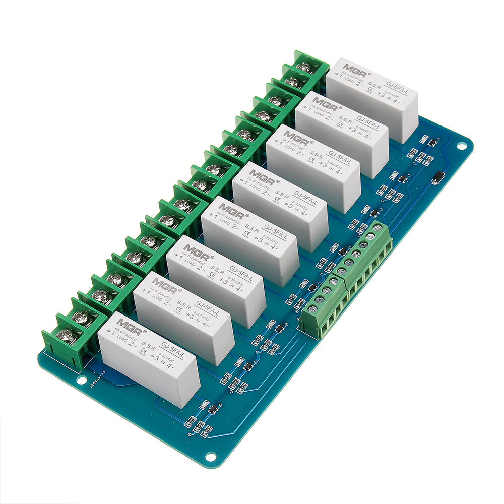8 Channel Solid State High Power 3-5VDC 5A Relay Module For Arduino