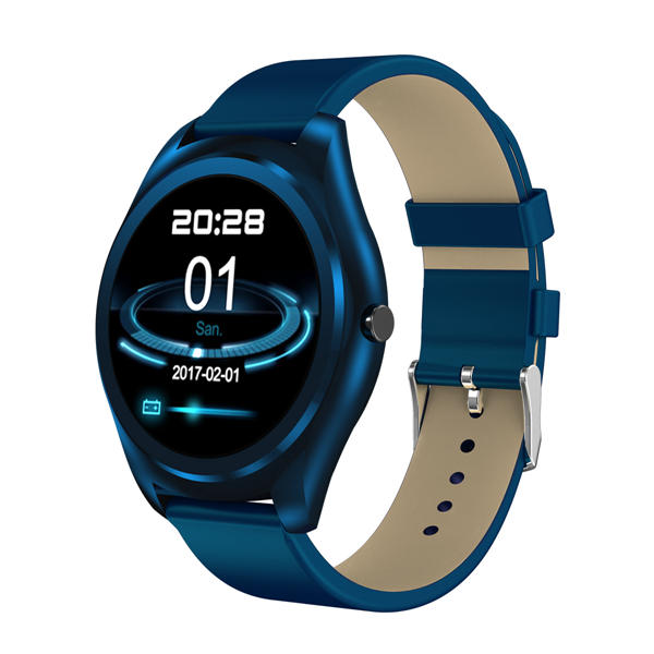 Newwear N3 Pro 1.3inch MTK2502 HD Slim Bluetooth Call Media Heart Rate Monitor Pedometer Smart Watch