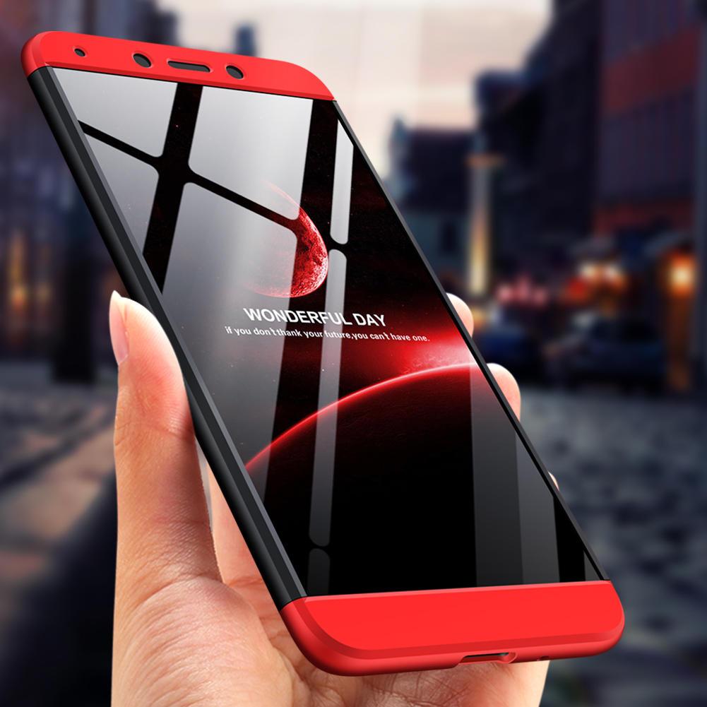 Bakeey ™ 3 in 1 Double Dip 360 ° Hard ПК Полная защитная Чехол Для Xiaomi Redmi 6A