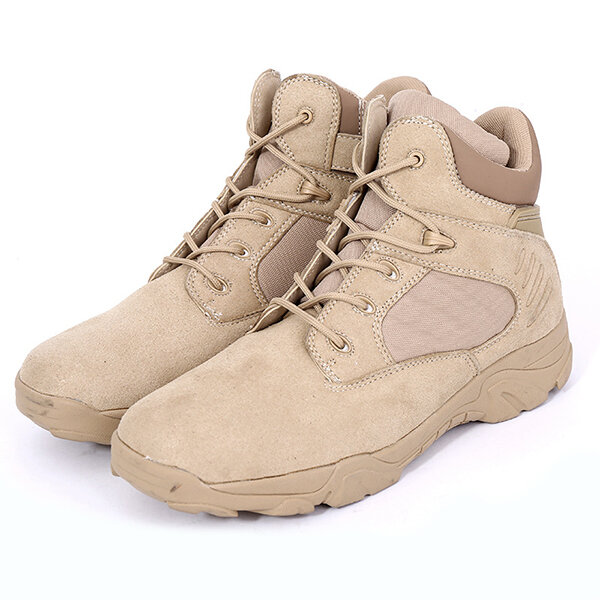 Men Comfortable Wear Resistant Outsole Warm High Top Military Style Boots