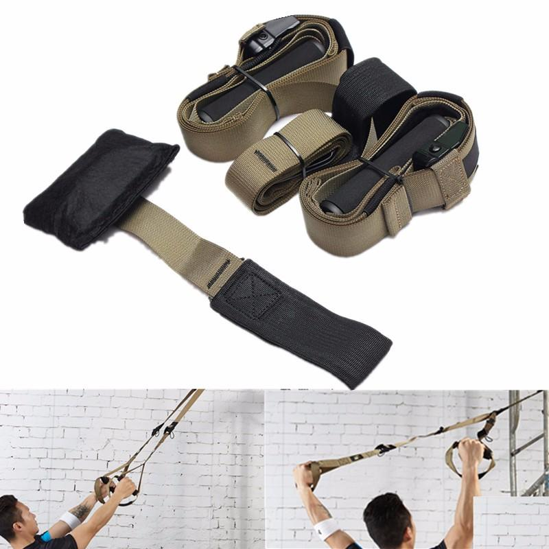 Gym Yoga Training Suspension Strap Set Full Body Fitness Workout Stretch Exercise