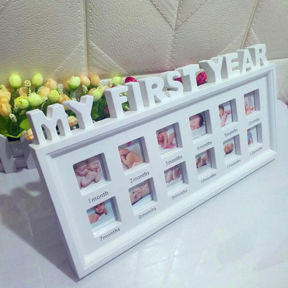 My First Year Baby Photo Frame Picture Display 12 Months Keepsake