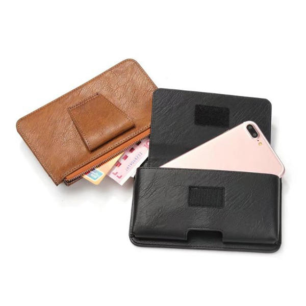 Men PU Leather Phone Pouch Belt Holster Wallet Phone Bag for 5.5 inch Phone