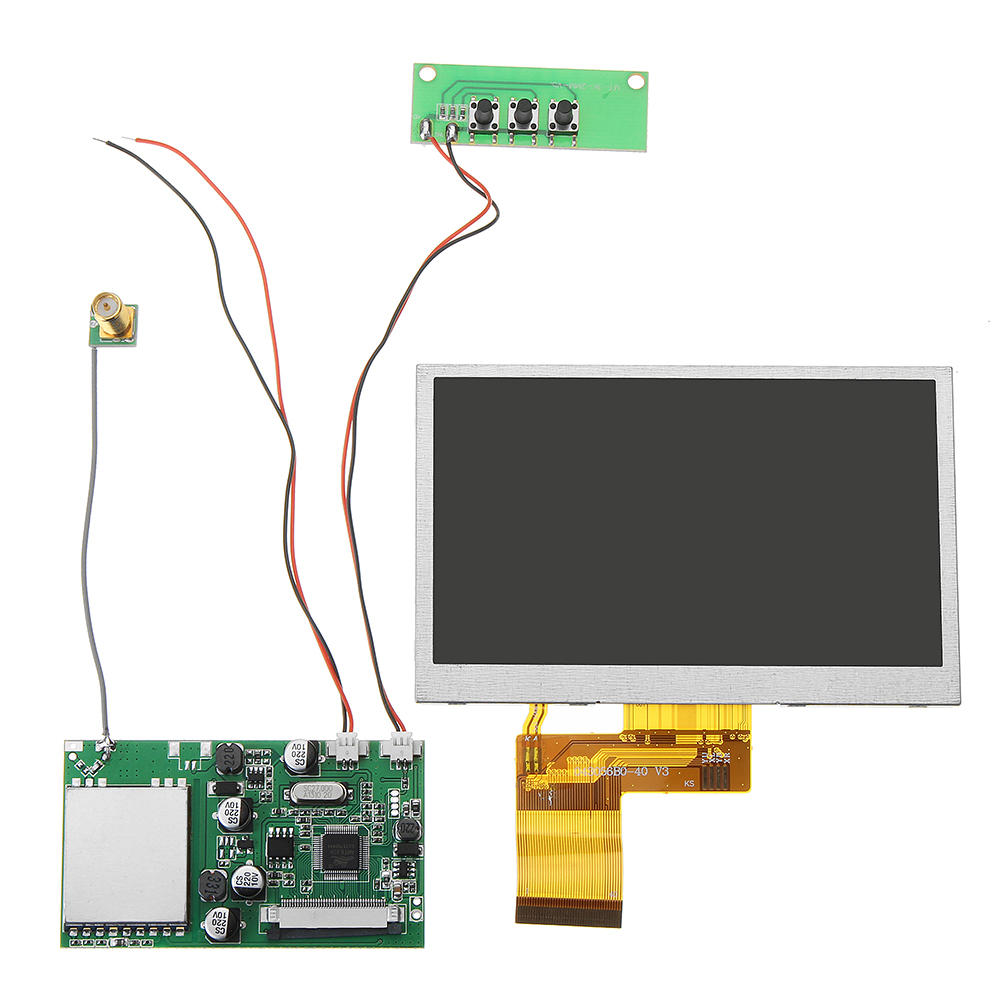 RX5808 5.8Ghz 48CH FPV Receiver with 480*320 5 Inch HD Display Snow Screen Monitor DIY For FPV Goggles