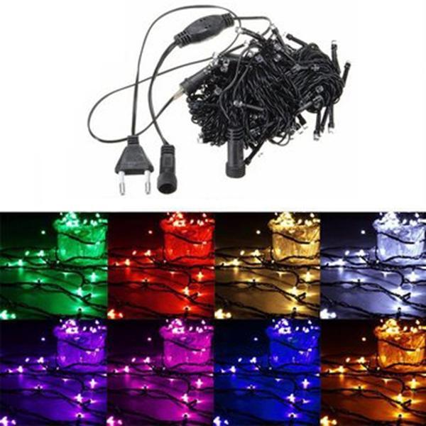 20M 200 LED String Fairy ไฟคริสต์มาสคริสต์มาส Xmas งานแต่งงาน โคมไฟปาร์ตี้ 220V