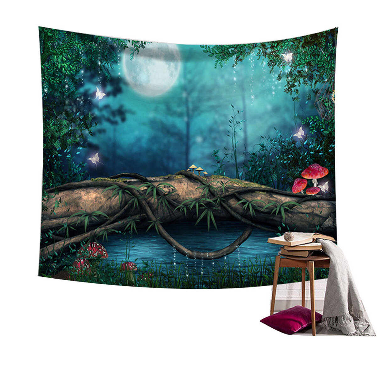 Fairy Forest Hanging Wall Tapestry Bohemian Hippie Throw