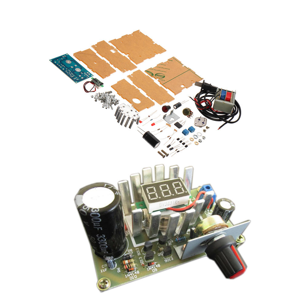 DIY 3DD15 Adjustable Regulated Power Supply Module Kit Output Short Circuit Protection Series
