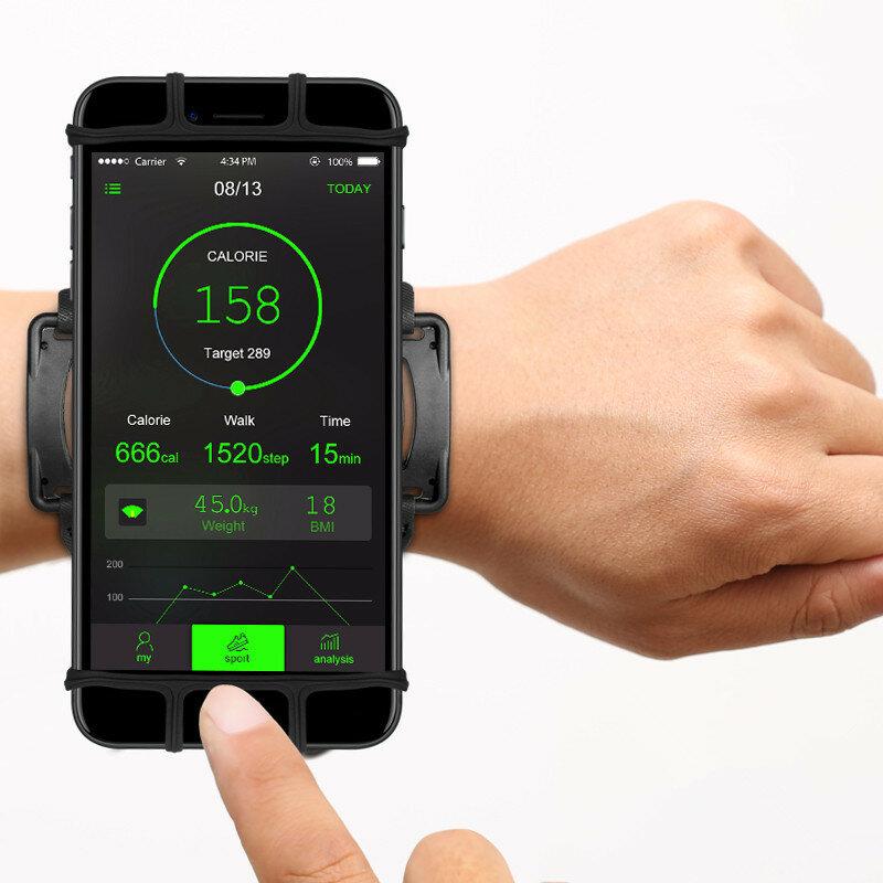Portatelefoni VUP 180° Rotazione Sportivo Regolabile per Corsa Bicicletta per Smartphone da 4-6 Pollici
