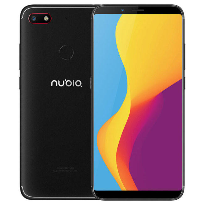 ZTE Nubia V18 Global Version 6.01 Inch FHD+ 18:9 Full Screen 4000mAh 4GB RAM 64GB ROM Snapdragon 625 2.0GHz Octa Core 4G Smartphone – Black