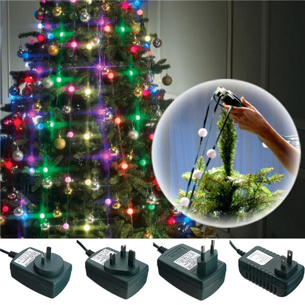 3 modes colorful led christmas tree fiber fairy night holiday light bulb lamp decoration ac110