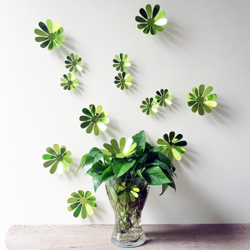 12 Pcs 3D Flower Wall Decal Vinyl Arts Removable Wall Stickers Home Bedroom Decor Gifts COD