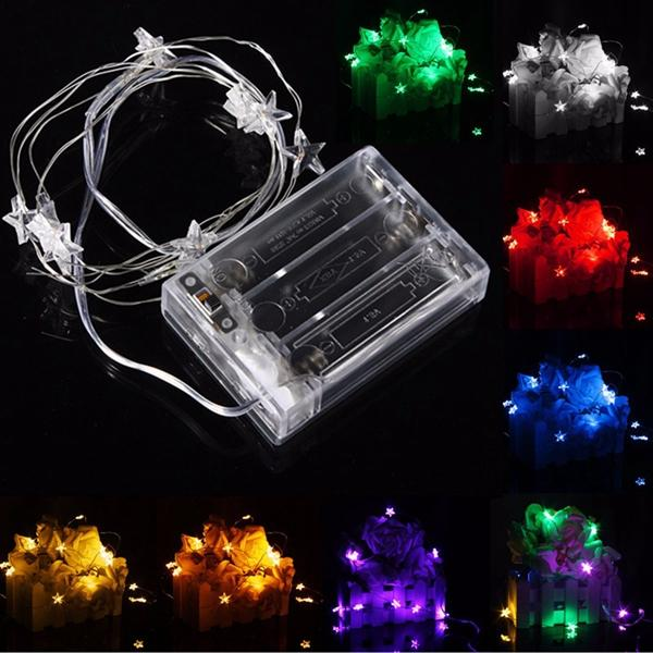 3m 30 led battery powered star string fairy light for christmas party weddinng decor sale. Black Bedroom Furniture Sets. Home Design Ideas