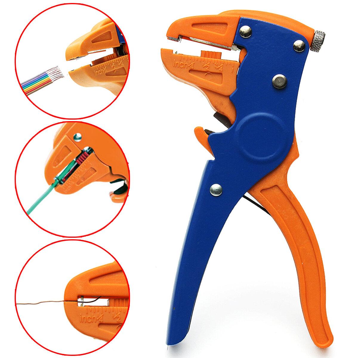 HS-700D 2 en 1 0.25 ~ 6mm² Câble automatique Fil de coupe-fil de coupe Pinces Crimper Crimping Tool
