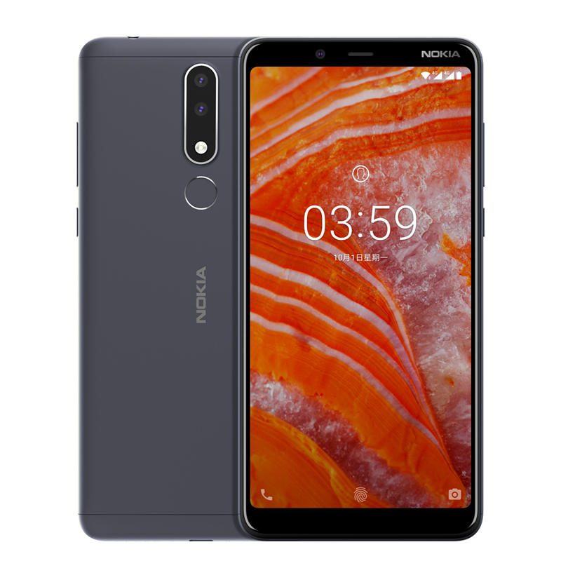 NOKIA 3.1 Plus Global ROM 6.0 inch Fingerprint 3GB RAM 32GB ROM Helio P22 Octa core 4G Smartphone – Blue