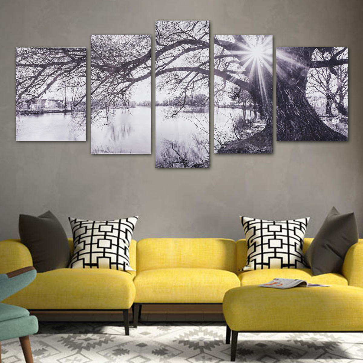 modern abstract decorative black and white sun paintings pictures rh banggood com