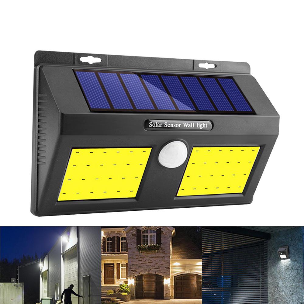 100 COB LED mur solaire énergie solaire PIR cour de sécurité extérieure capteur de mouvement jardin